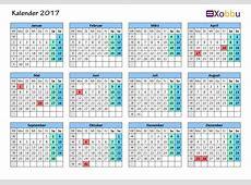 Kalender 2017 Vorlagen zum Ausdrucken PDF Excel JPG