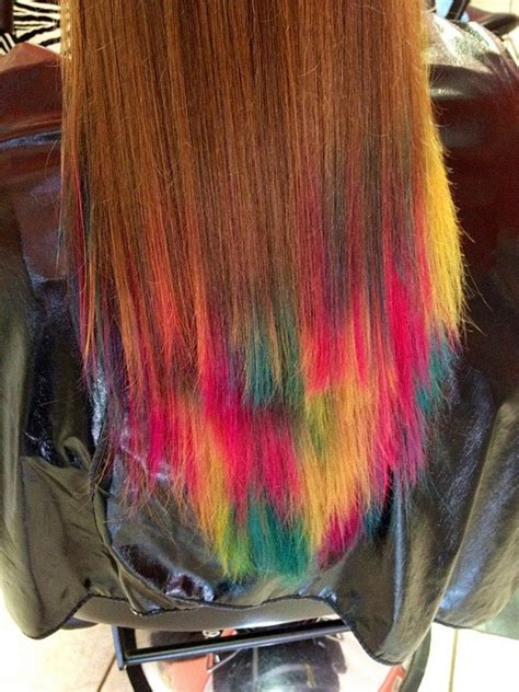 Colorful Tips Dip Dyed Hair
