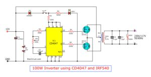 the output circuit of 200 watts home power inverter eleccircuit com