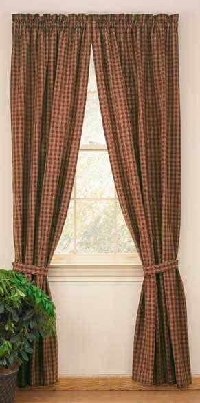 Wine Sturbridge Lined Window Curtain Panels