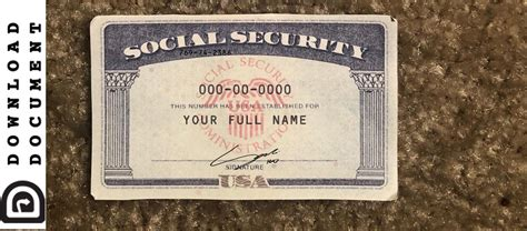 Show original documents or copies certified by the issuing agency proving your immigration status [including a work permit by department of. Social Security Card Template 22 - SSN DOWNLOAD