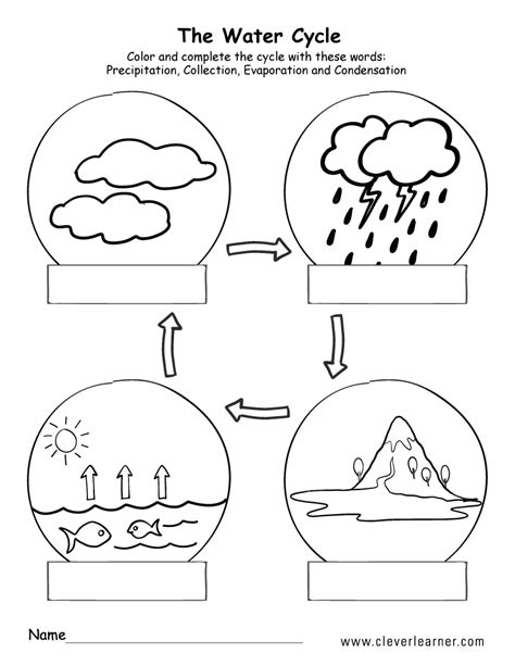 water cycle preschool printable water cycle worksheets for preschools 254