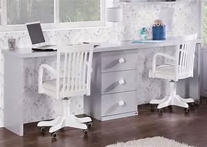 Lit Bureau Enfant : chambre double avec lit et bureau double chez ksl living ~ Teatrodelosmanantiales.com Idées de Décoration