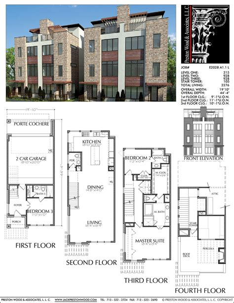 duplex townhome plan     condo floor