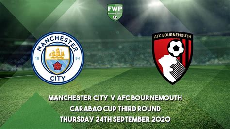 Carabao Cup Third Round | Manchester City 2 - 1 AFC ...