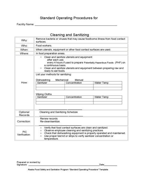 2020 SOP Template - Fillable, Printable PDF & Forms | Handypdf