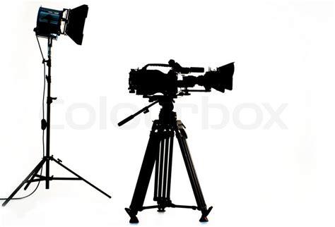 12238 photographer tripod silhouette tv the in studio stock photo colourbox