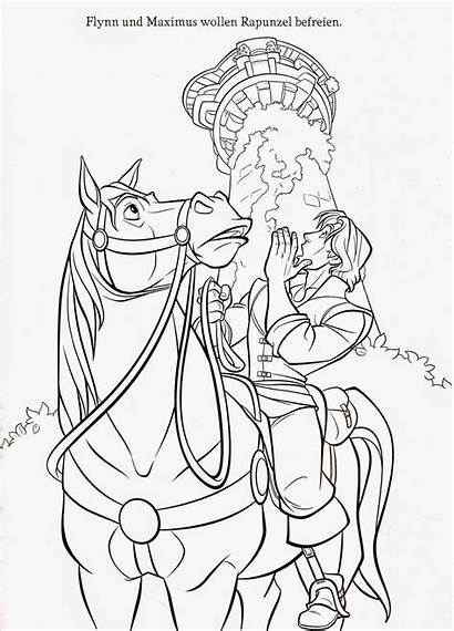 Tangled Coloring Pages Maximus Printable Rapunzel Disney