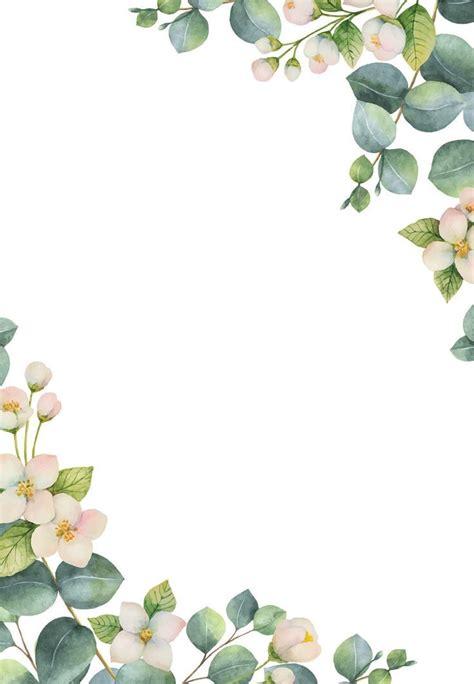 botanical white flowers wedding invitation template