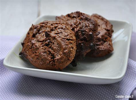 recette sans gluten sans oeuf sans lait sans sucre blanc biscuits au chocolat