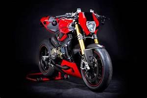 Racing Caf U00e8  Ducati 1199 Panigale S  U0026quot Roadster U0026quot  By Hertrampf