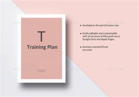 sample training plan templates