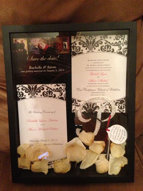 wedding shadow box done projects completed diy shadow
