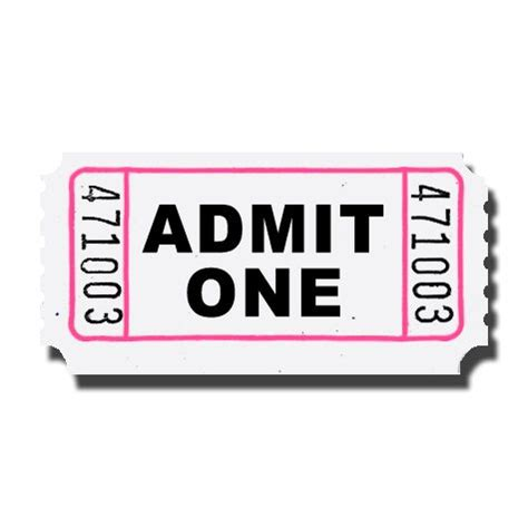 ticket stub template pink and blue admit one roll tickets doolins