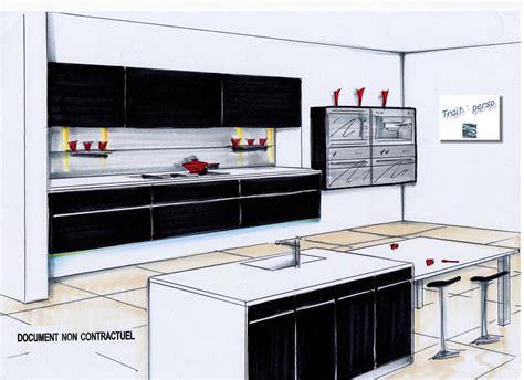 dessiner en perspective une cuisine cuisine en perspective 100 images cuisine