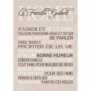 Affiche Les Regles De La Maison : affiche r gles de la maison romantique personnalisable ~ Melissatoandfro.com Idées de Décoration