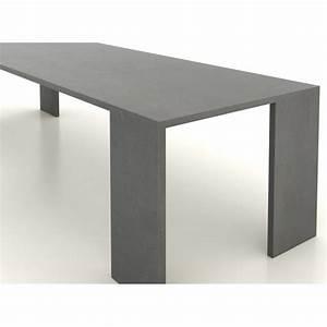 Table En Béton Ciré : table en b ton cir 200 cm par 90 cm artisan b ton cir ~ Premium-room.com Idées de Décoration