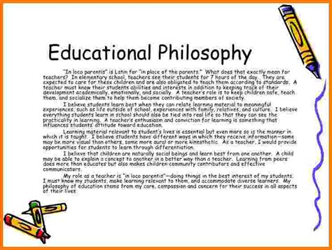 teaching philosophy sample card authorization