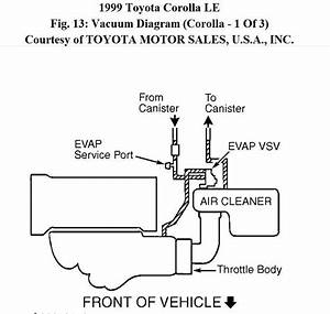 1999 Toyota Corolla P0446  My Check Engine Light Is On So
