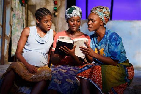 eclipsed theater review lupita nyongo shines  drama