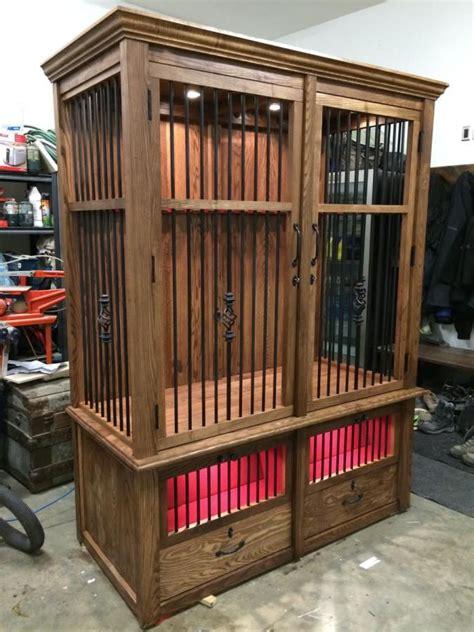 riflehand gun cabinet woodworking creation  sheri