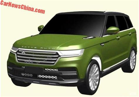 Zotye T800 patents reveal a Range Rover Sport copy Image ...