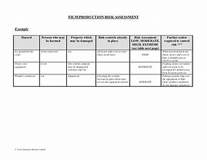 80647870 film production risk assessment form With property risk assessment template