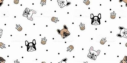 Boba Tea Milk Background Bubble Dog Vector