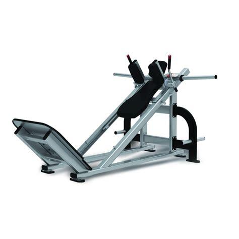 loaded hack squat star trac gym equipment