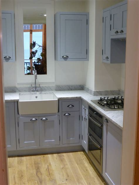 parma gray  carrera marble painted kitchen  peter