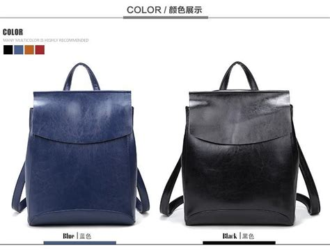 Women Backpack Vintage Leather School Bags For Girls