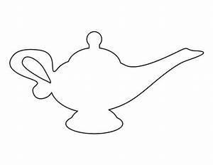 Drawn bulb genie - Pencil and in color drawn bulb genie