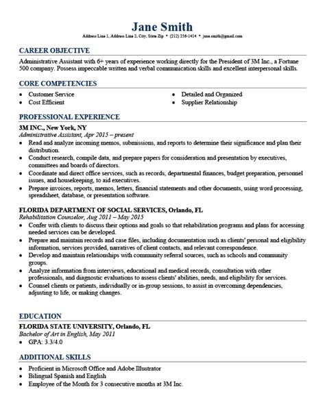Professional Sle Resume by Professional Resume Templates Free Resume Genius