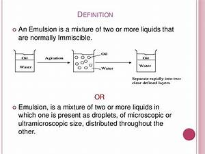 Emulsion ppt prepared by yasir yaqoob !!! Lahore School of ...