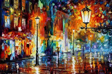 яркие брызги дождя художник leonid afremov
