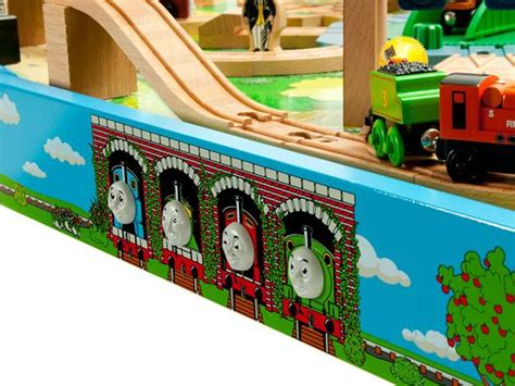thomas wooden railway table thomas friends wooden railway tidmouth sheds deluxe