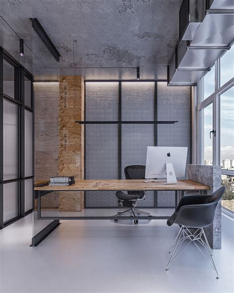 Industrial Office Studio On Behance Office And Working