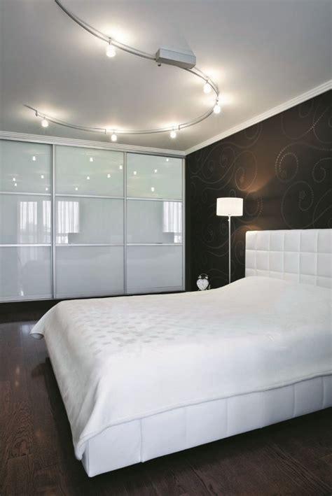 Minimalist Modern Bedroom With Track Lighting Fixtures