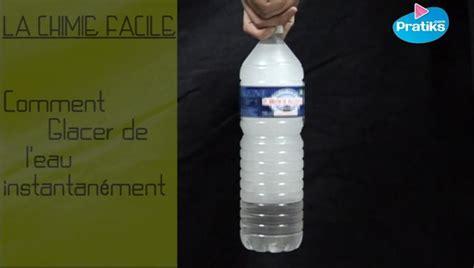 La chimie facile : Comment glacer de l eau instantanément