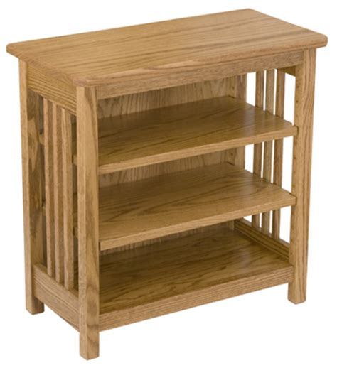 End Table Bookcase by Mission Bookcase End Table 2 Shelves Amish Furniture