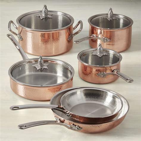 ruffoni omegna cupra hammered copper  piece cookware set