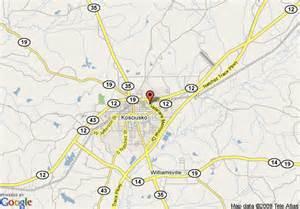 Kosciusko Mississippi Map