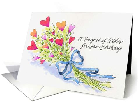 bouquet  wishes card