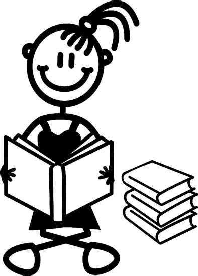 My Family Sticker - Girl Reading Book — NeedThatGift