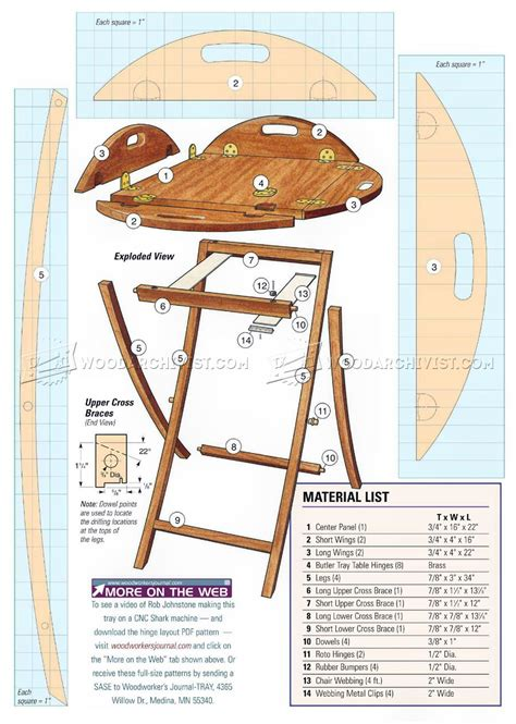 Butler Tray And Stand Plans • Woodarchivist