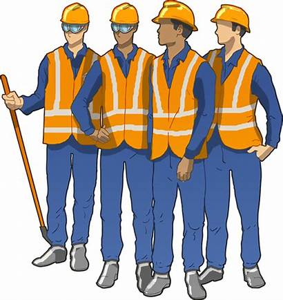 Worker Clipart Construction Collar Engineer Workers Transparent
