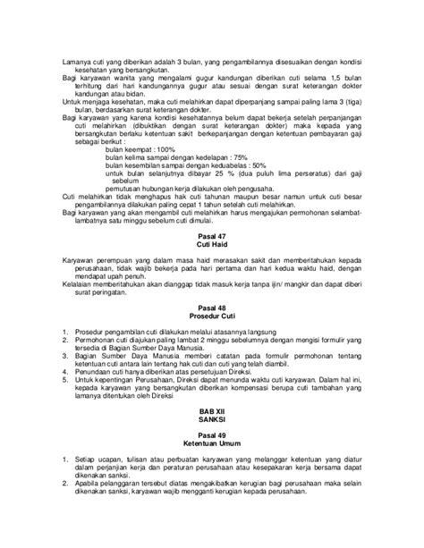 Gugur Kandungan 6 Bulan Peraturan Perusahaan