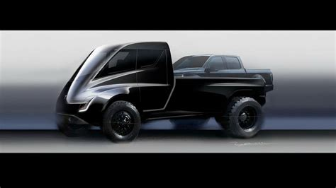tesla truck this tesla pickup truck concept looks ridiculous