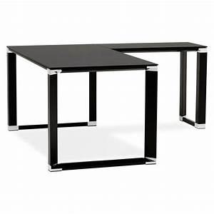 Bureau D Angle Noir : bureau d 39 angle design master en verre tremp noir ~ Teatrodelosmanantiales.com Idées de Décoration