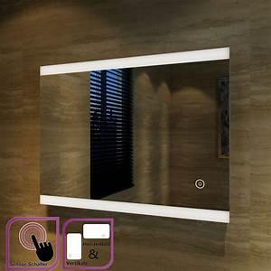Spiegel Mit Aluminiumrahmen : badspiegel led spiegel mit energiesparender led beleuchtung kaltwei ip44 80x60 ebay ~ Sanjose-hotels-ca.com Haus und Dekorationen